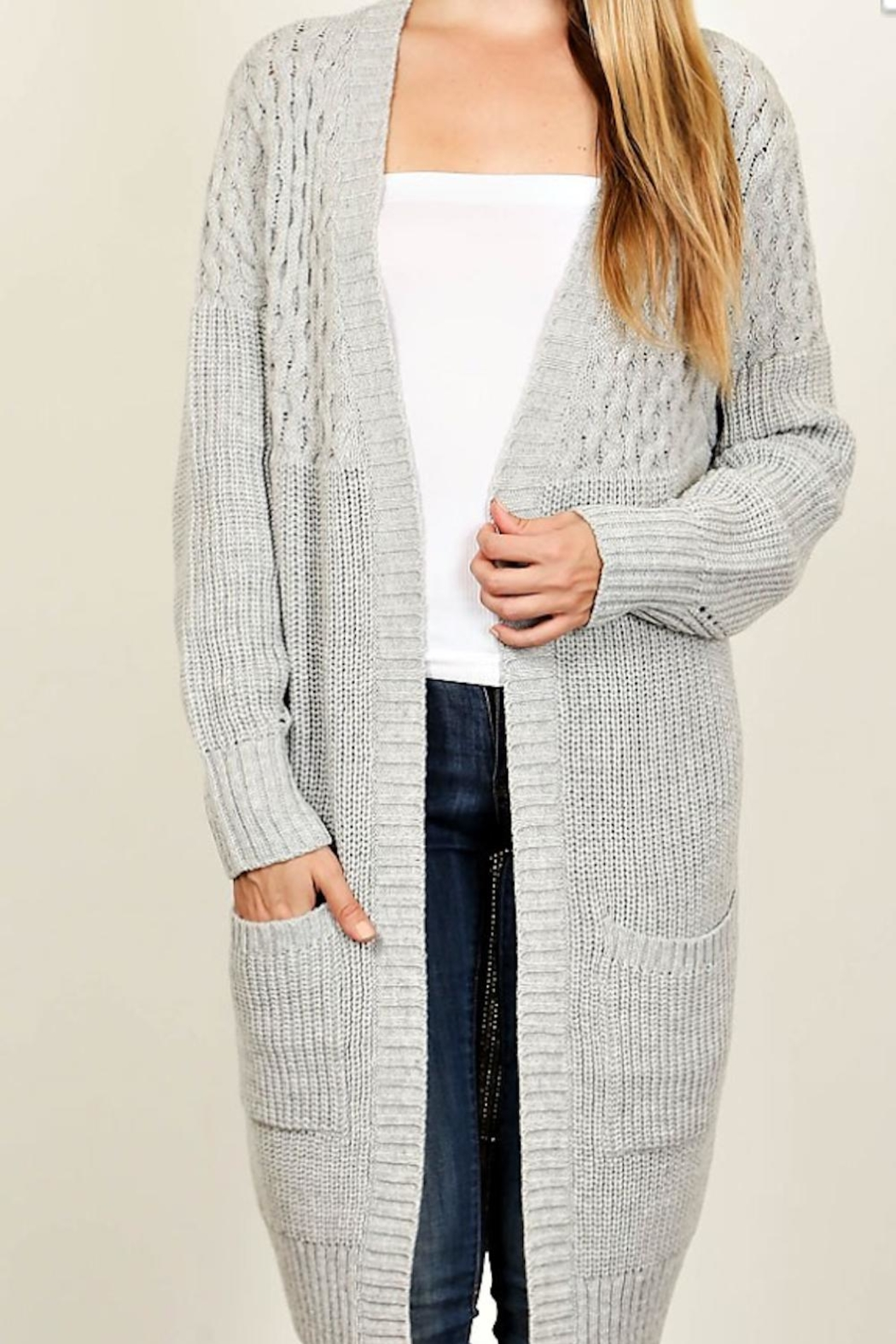Fascination Ivory Knit Cardigan - Main Image