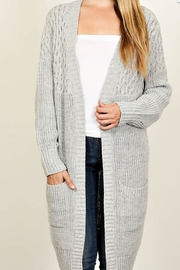 Fascination Ivory Knit Cardigan - Front cropped