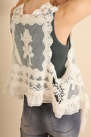 Umgee USA Fashion Crochet Vest - Front full body