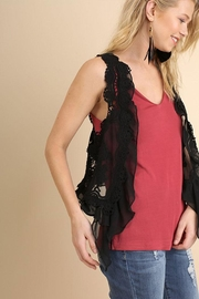 Umgee USA Fashion Crochet Vest - Front cropped