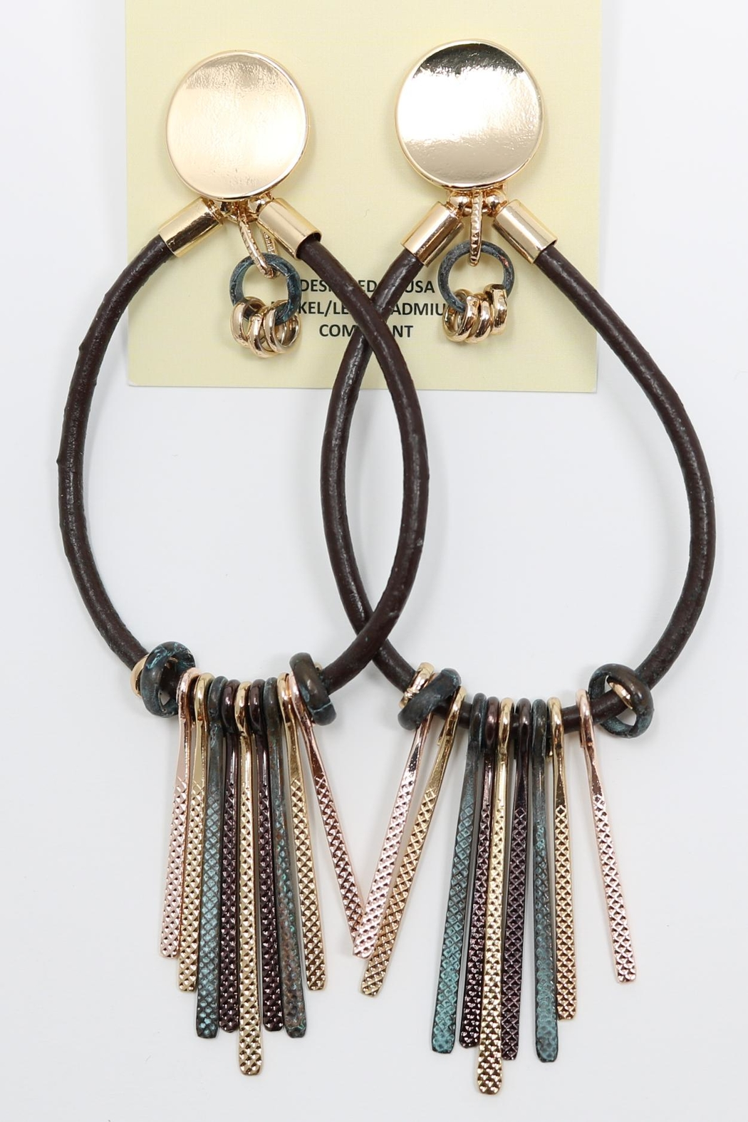 Nadya's Closet Fashion Drop Post-Earrings - Front Cropped Image