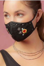 Mary Frances Fashion Face Mask - Front full body