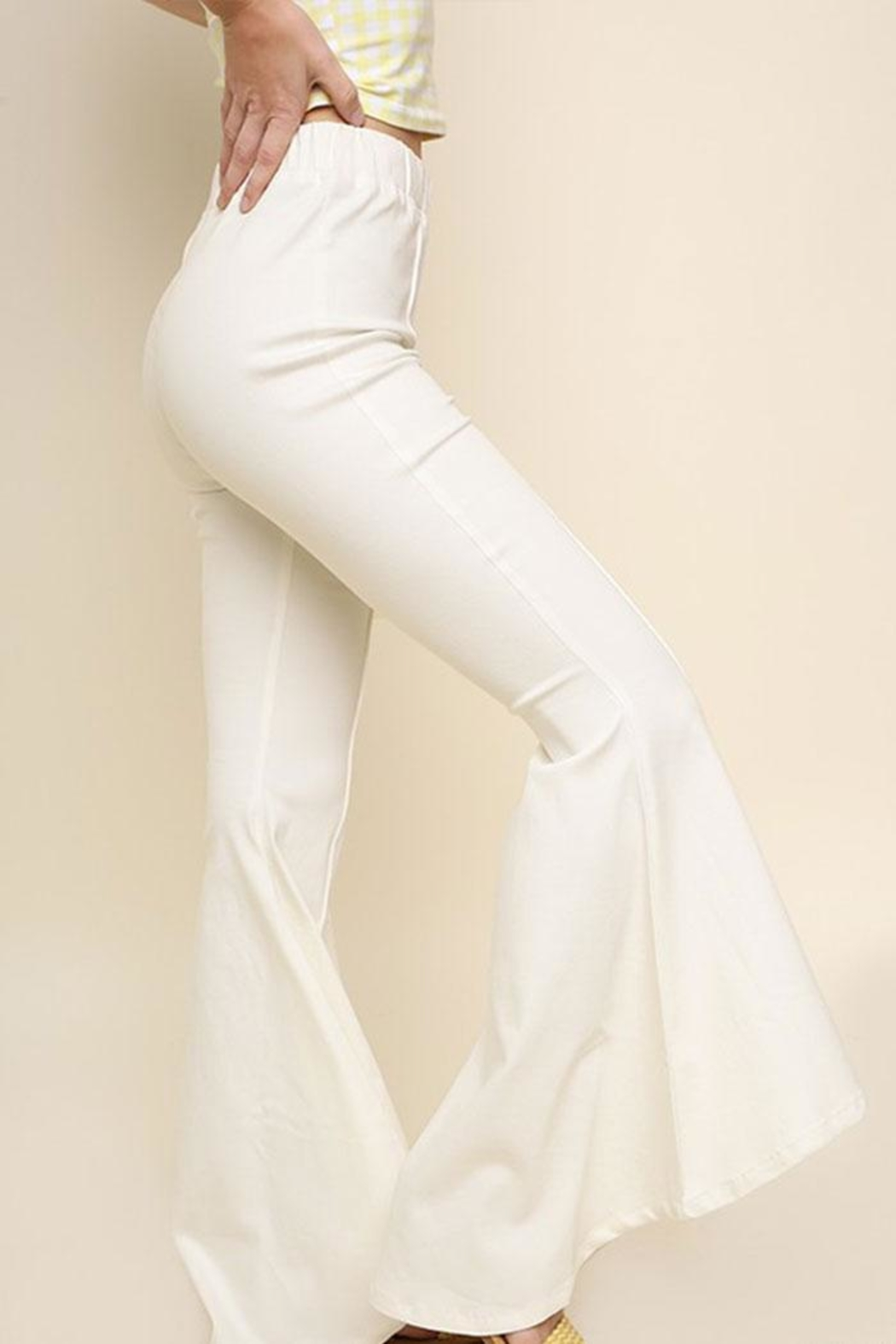 Umgee USA Flare Leg Pants - Side Cropped Image