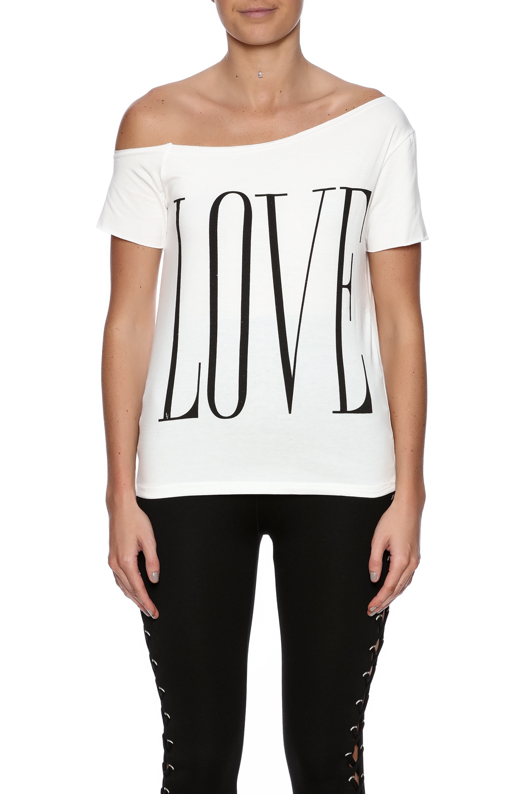 Fashion Love Graphic Top - Side Cropped Image