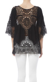 fashion on earth Black Crochet Top - Back cropped
