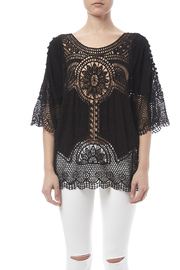 fashion on earth Black Crochet Top - Side cropped
