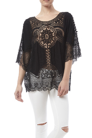 fashion on earth Black Crochet Top - Product Mini Image