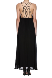 fashion on earth Black String Back Maxi - Back cropped