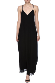 fashion on earth Black String Back Maxi - Front full body