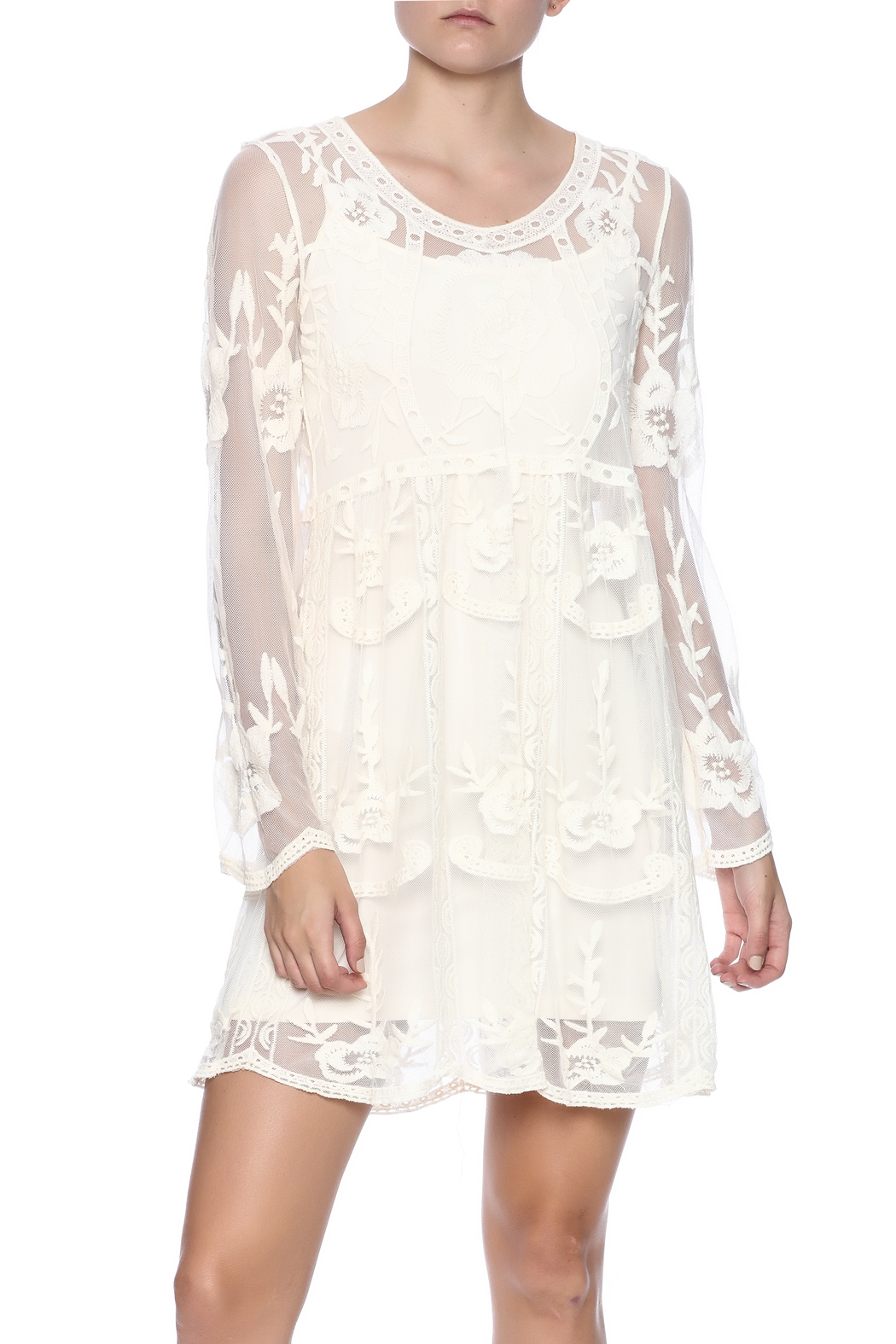fashion on earth Crochet Lace Dress - Main Image