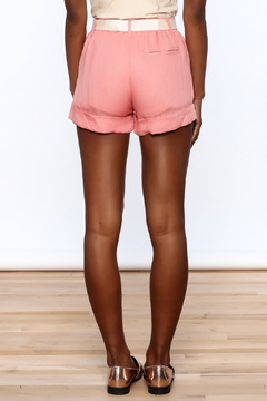 fashion on earth Cuffed Pleated Shorts - Alternate List Image