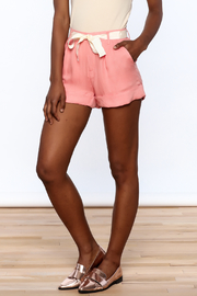 fashion on earth Cuffed Pleated Shorts - Product Mini Image
