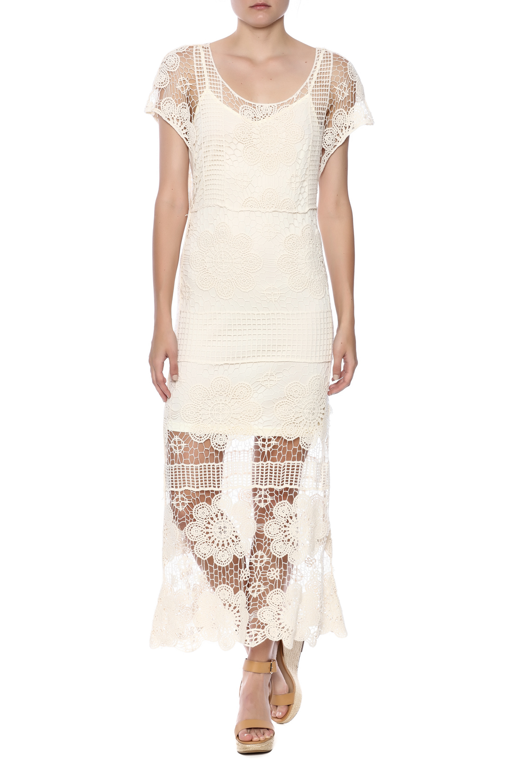 fashion on earth Ivory Romance Dress - Front Full Image