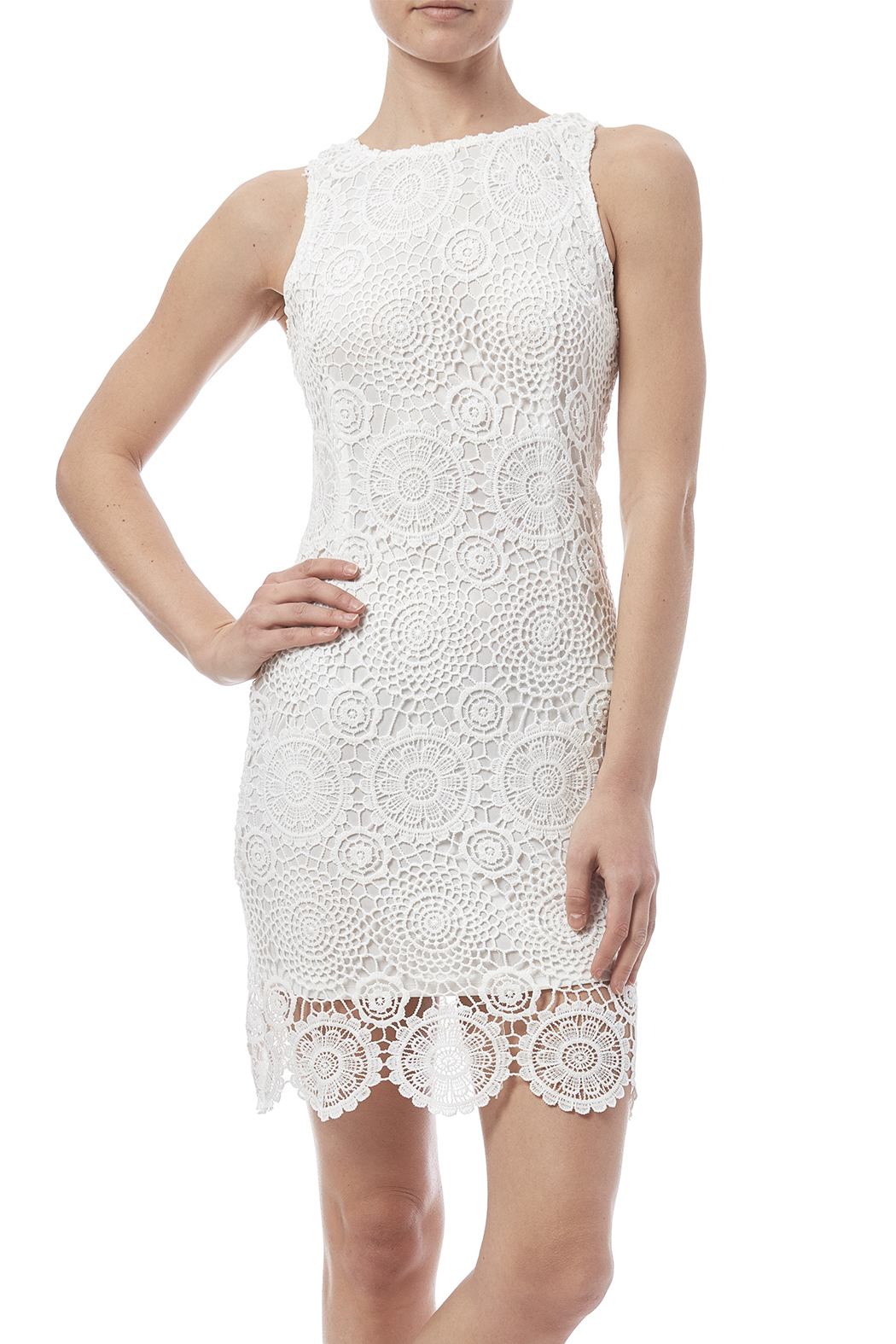 fashion on earth Crochet Overlay Dress - Front Cropped Image