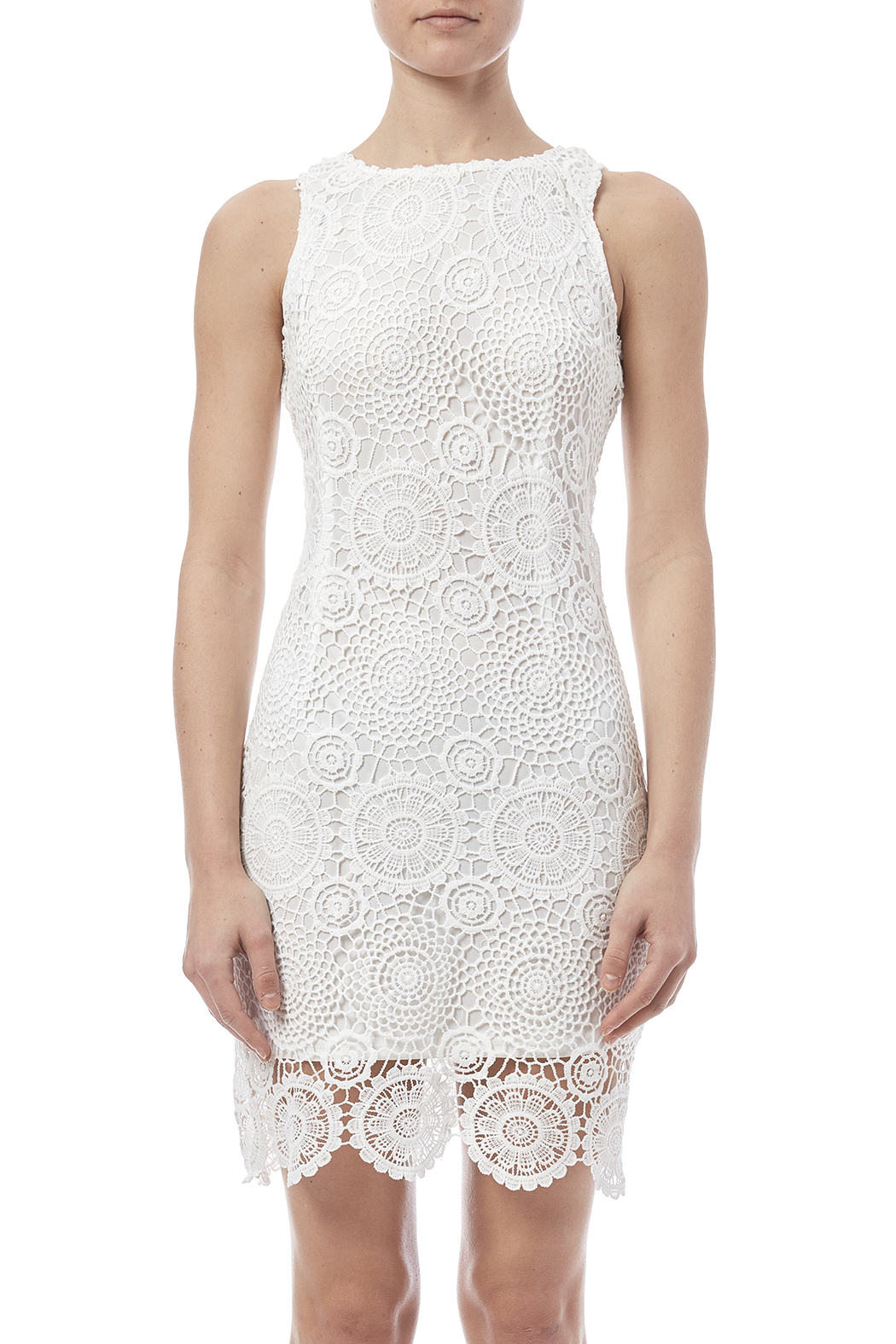 fashion on earth Crochet Overlay Dress - Side Cropped Image