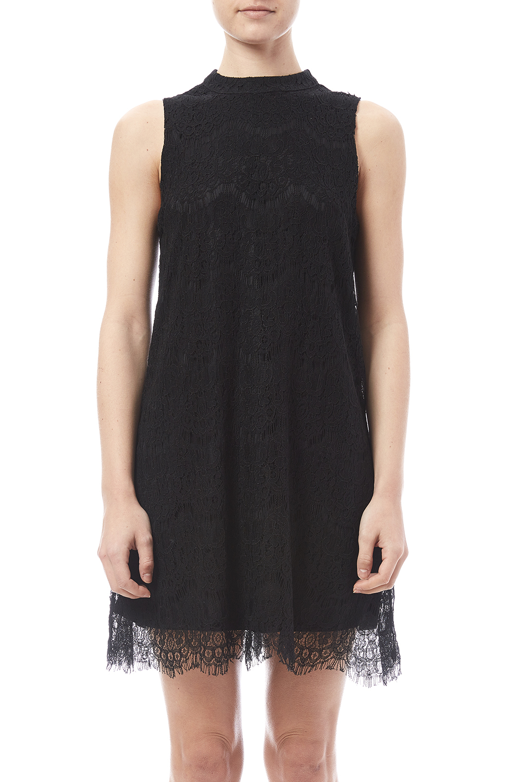 fashion on earth Lace Shift Dress - Side Cropped Image