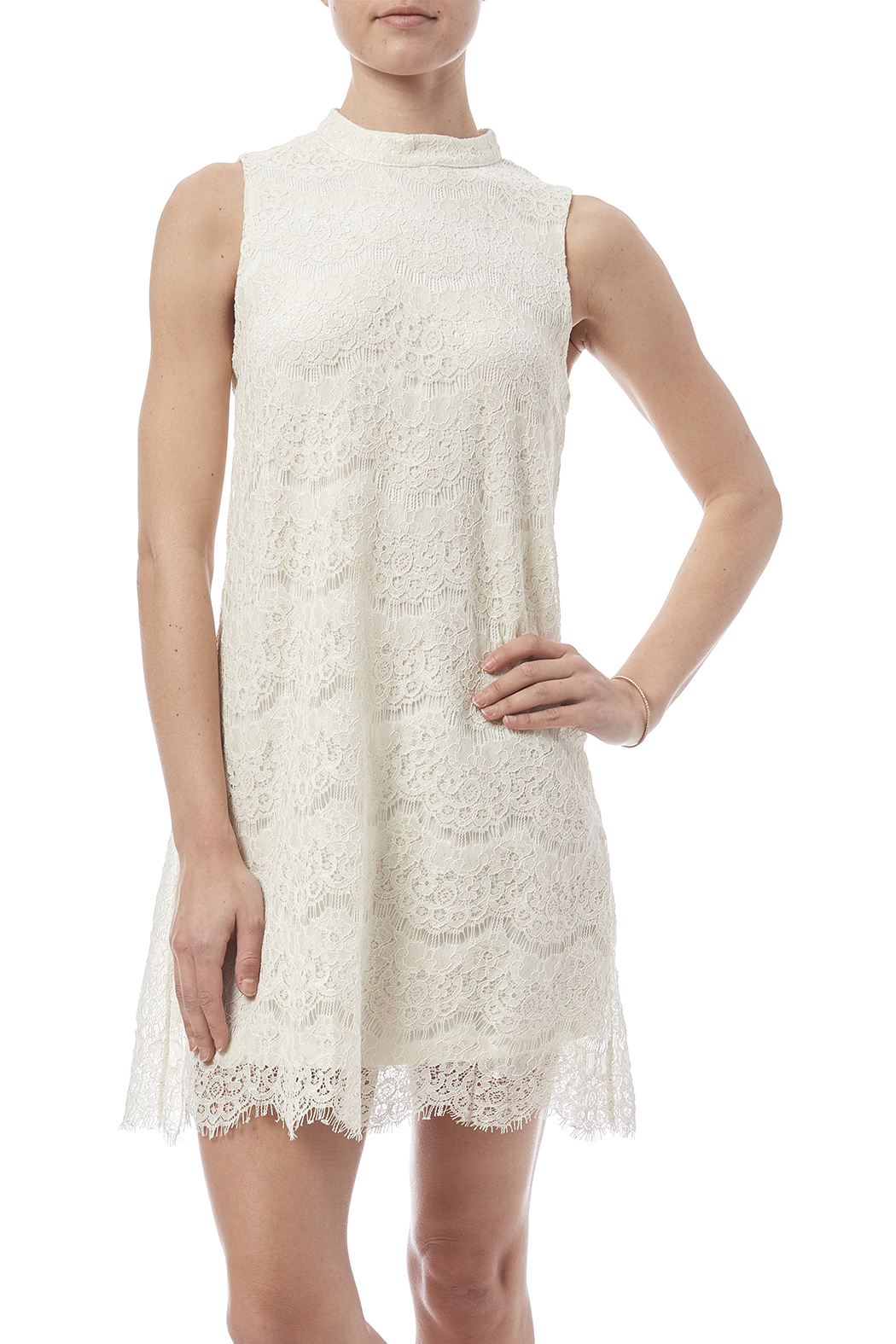 fashion on earth Lace Shift Dress - Main Image