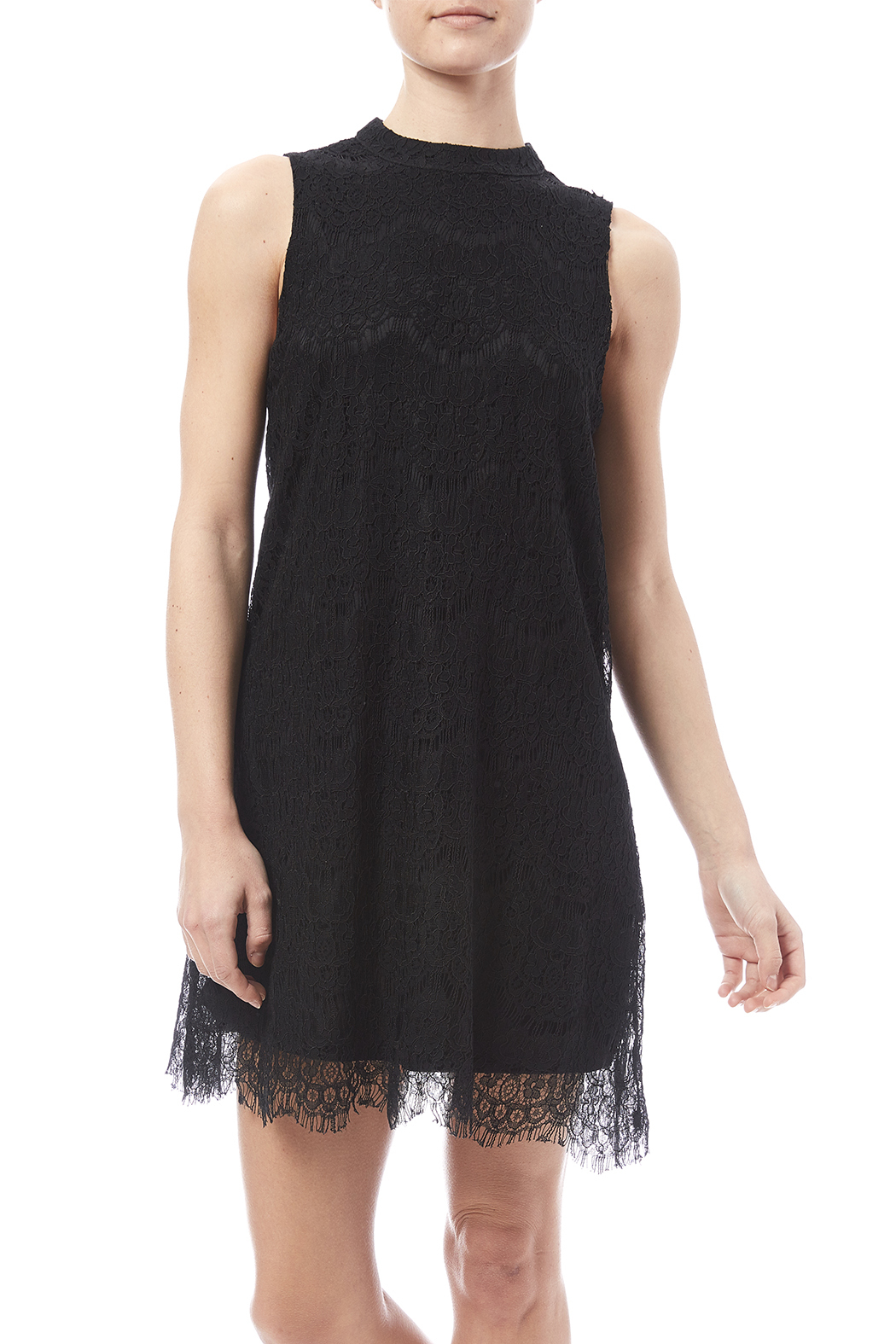 fashion on earth Lace Shift Dress - Front Cropped Image