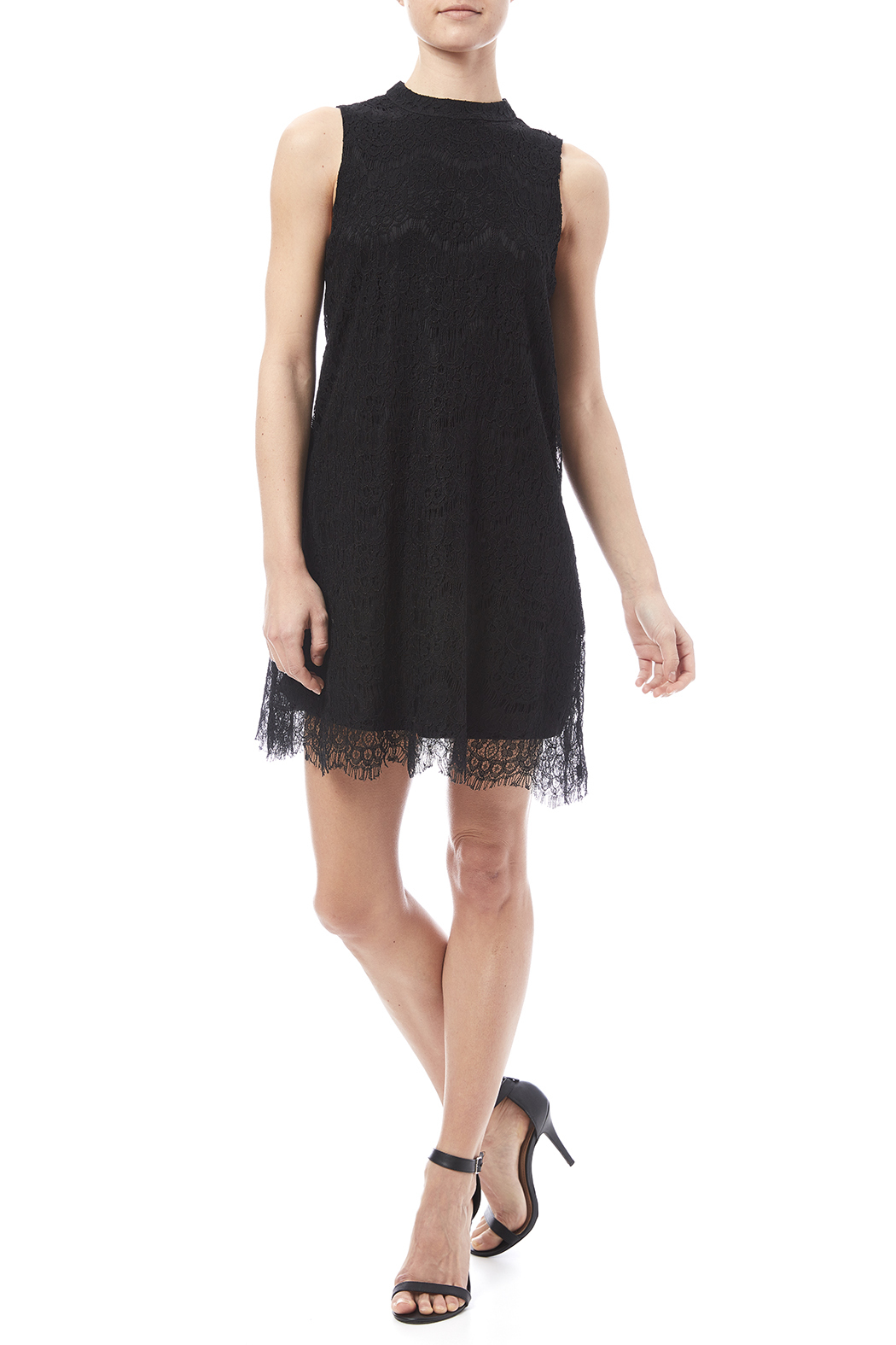 fashion on earth Lace Shift Dress - Front Full Image