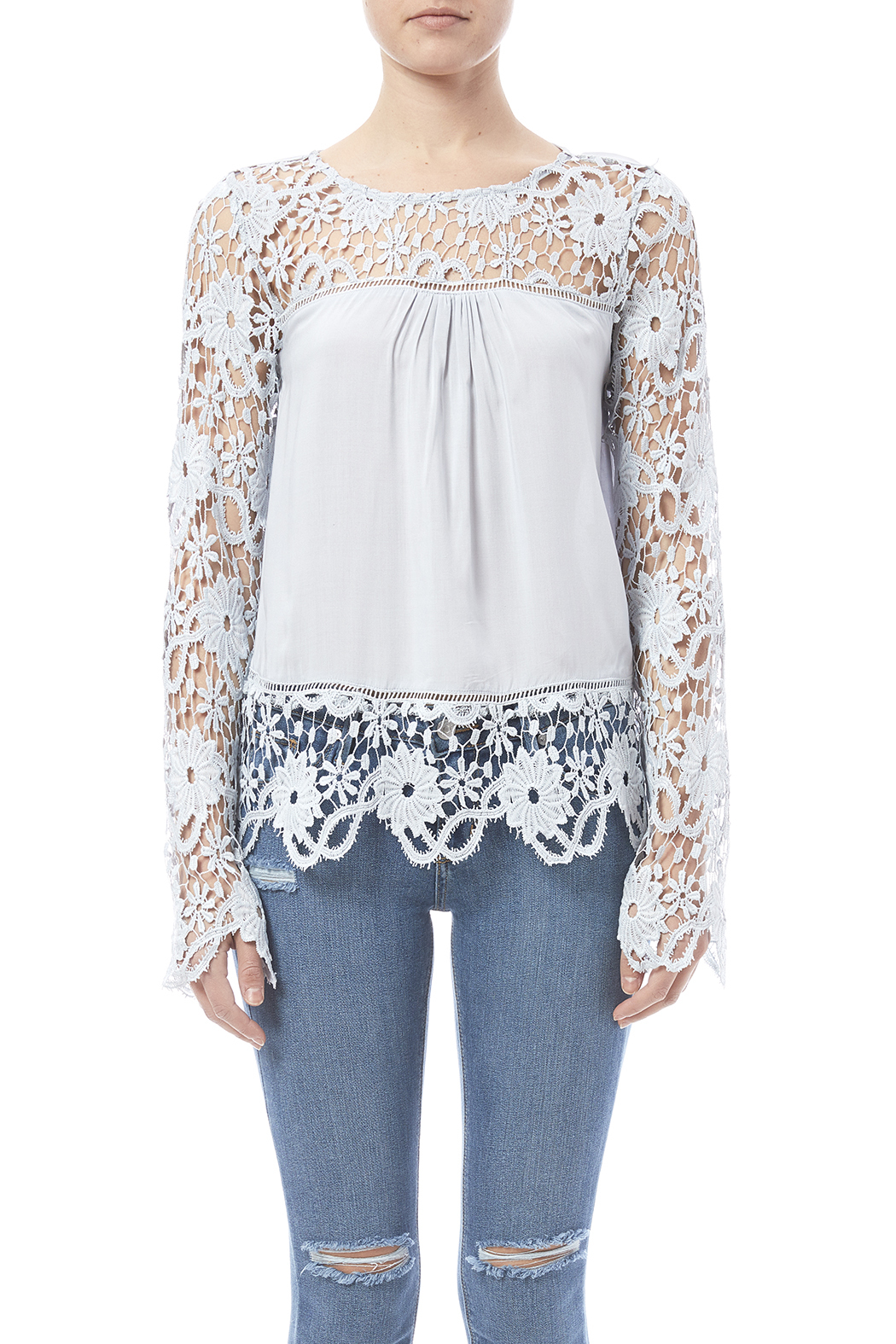 fashion on earth Romance Blouse - Side Cropped Image