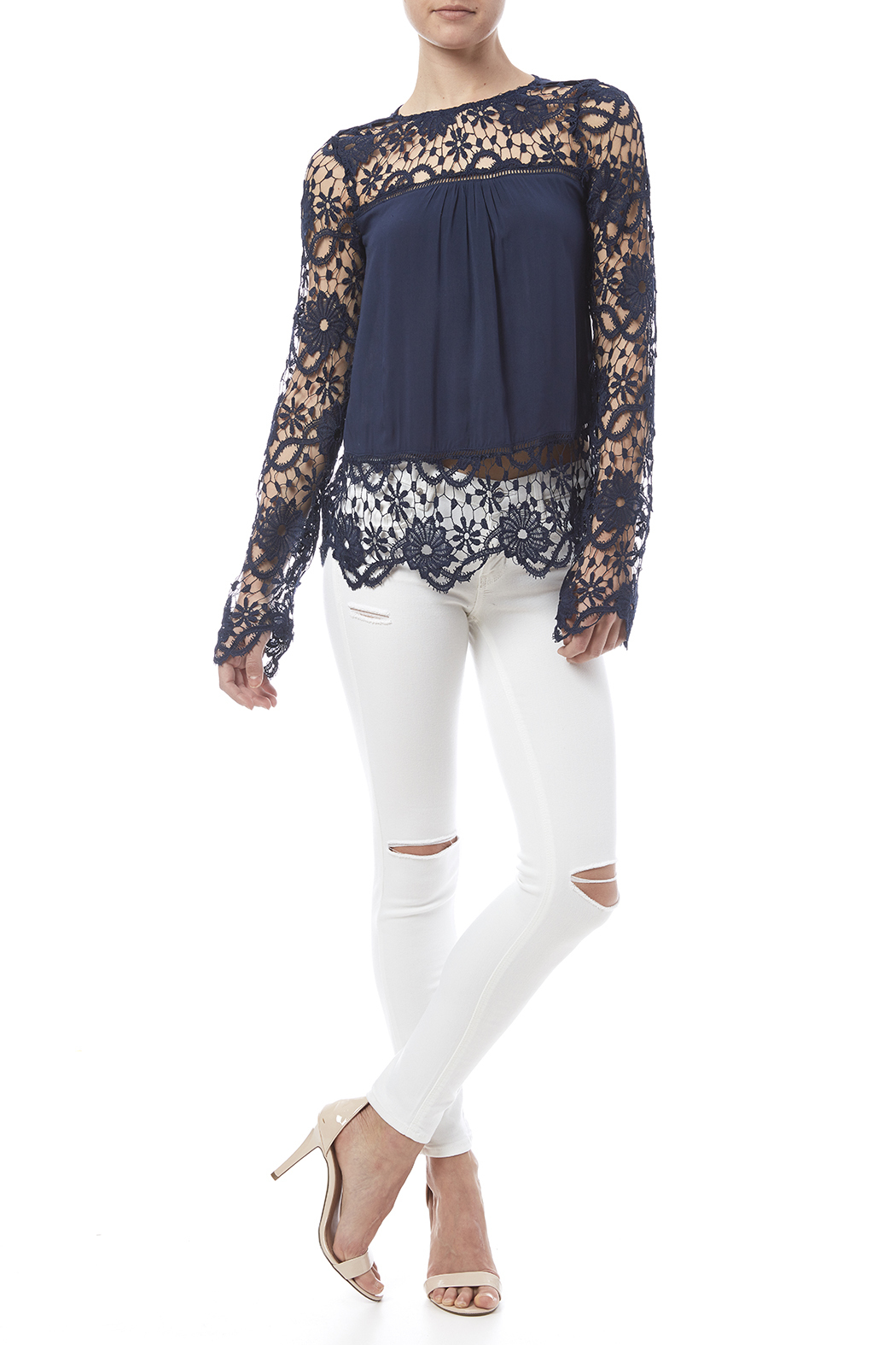 fashion on earth Romance Blouse - Front Full Image