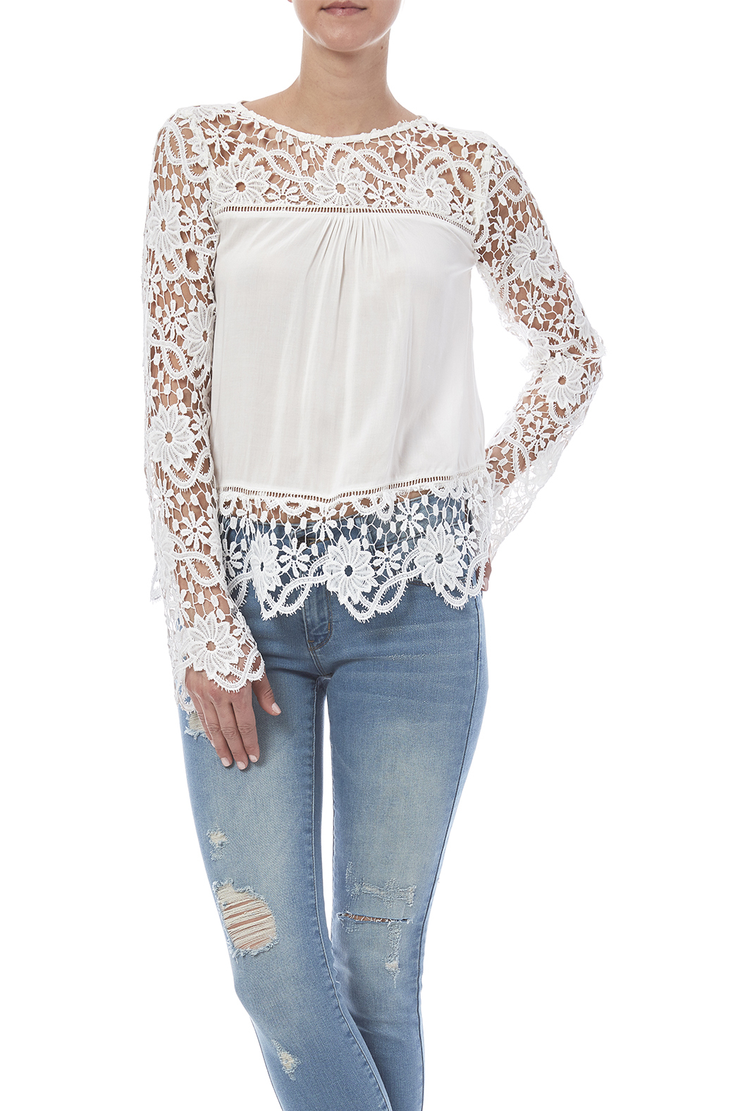 fashion on earth Romance Blouse - Front Cropped Image