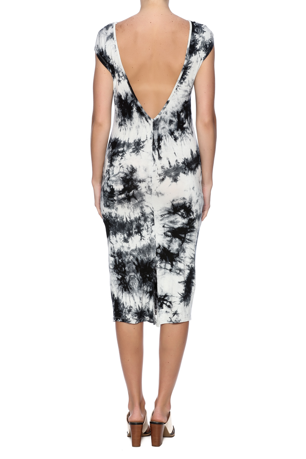 fashion on earth Tie Dye Dress - Back Cropped Image