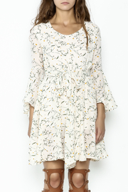 Fashion Pickle Bell Sleeve Printed Dress - Front full body