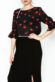 Fashion Pickle Bird Print Blouse - Front cropped