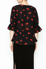 Fashion Pickle Bird Print Blouse - Back cropped
