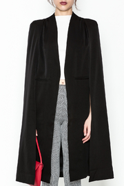 Fashion Pickle Black Cape Jacket - Front full body