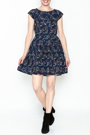 Fashion Pickle Cat Print Dress - Side cropped