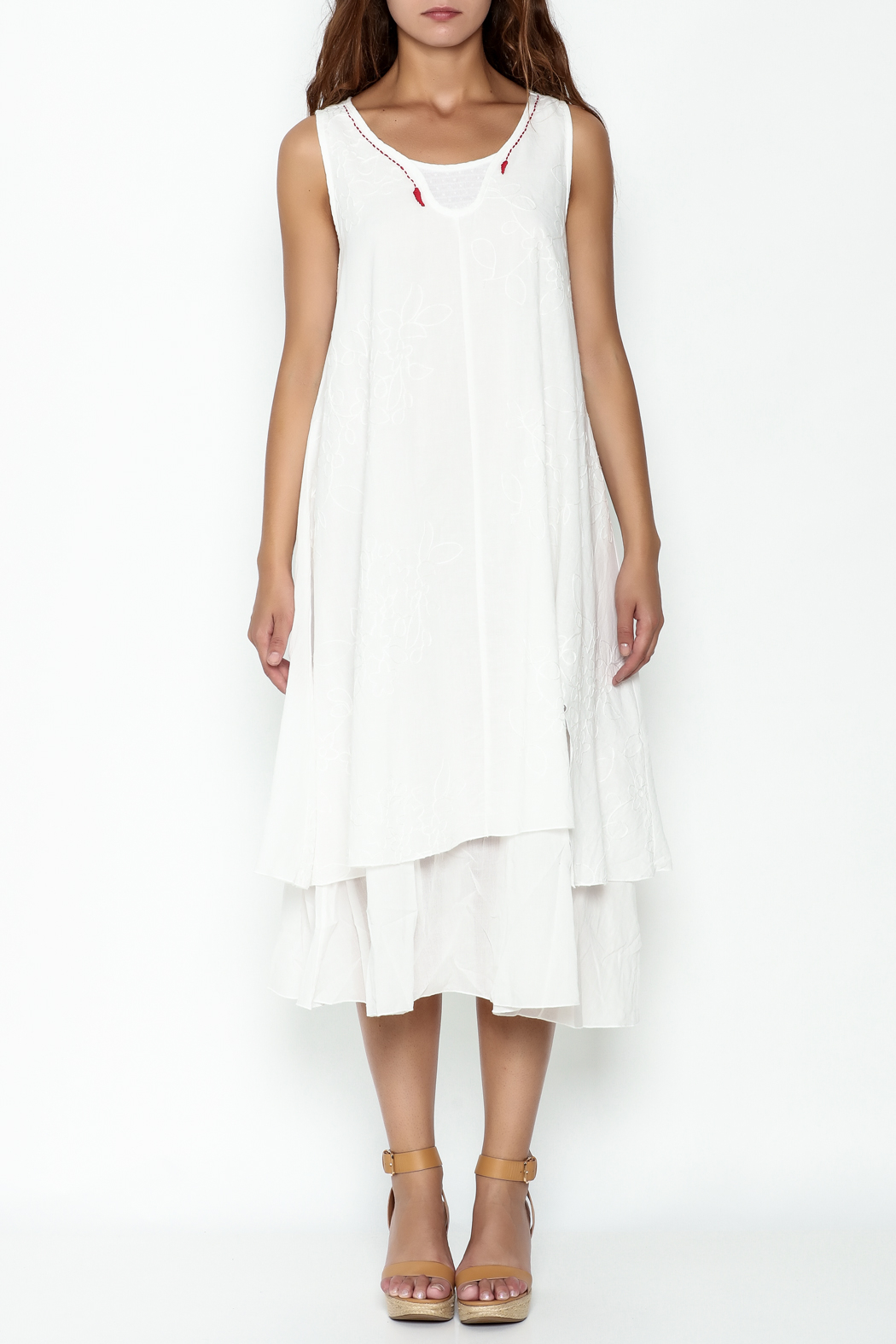 Fashion Pickle Cotton Dress - Front Full Image