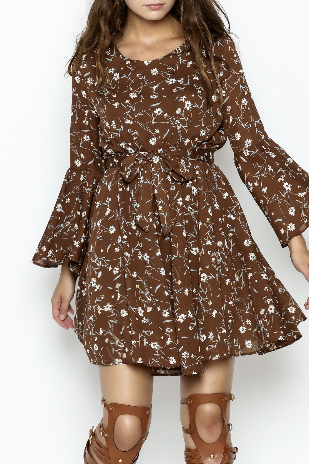 Fashion Pickle Daisy Printed Dress - Main Image