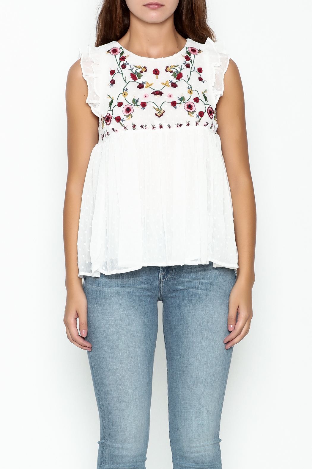 Fashion Pickle Ella Embroidered Top - Front Full Image