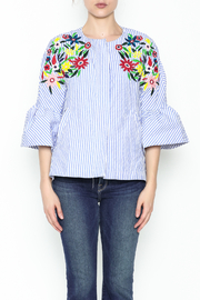 Fashion Pickle Ferera Embroidered Blouse - Front full body