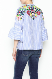 Fashion Pickle Ferera Embroidered Blouse - Back cropped