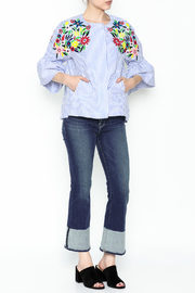 Fashion Pickle Ferera Embroidered Blouse - Side cropped