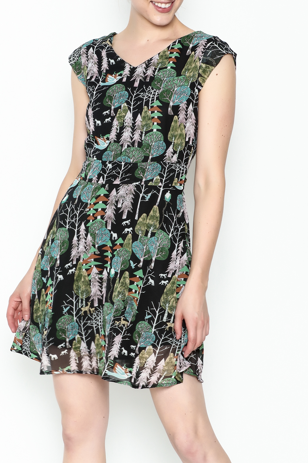 Fashion Pickle Forest Print Dress - Main Image
