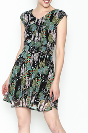 Fashion Pickle Forest Print Dress - Front cropped