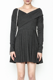 Fashion Pickle Grey Sweater Dress - Front full body