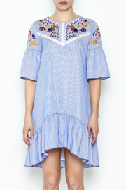 Fashion Pickle Boho Embroidered Dress - Front full body