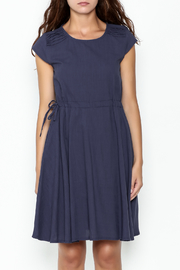Fashion Pickle Navy Blue Pocket Dress - Front full body