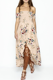 Fashion Pickle Nude Maxi Dress - Front cropped