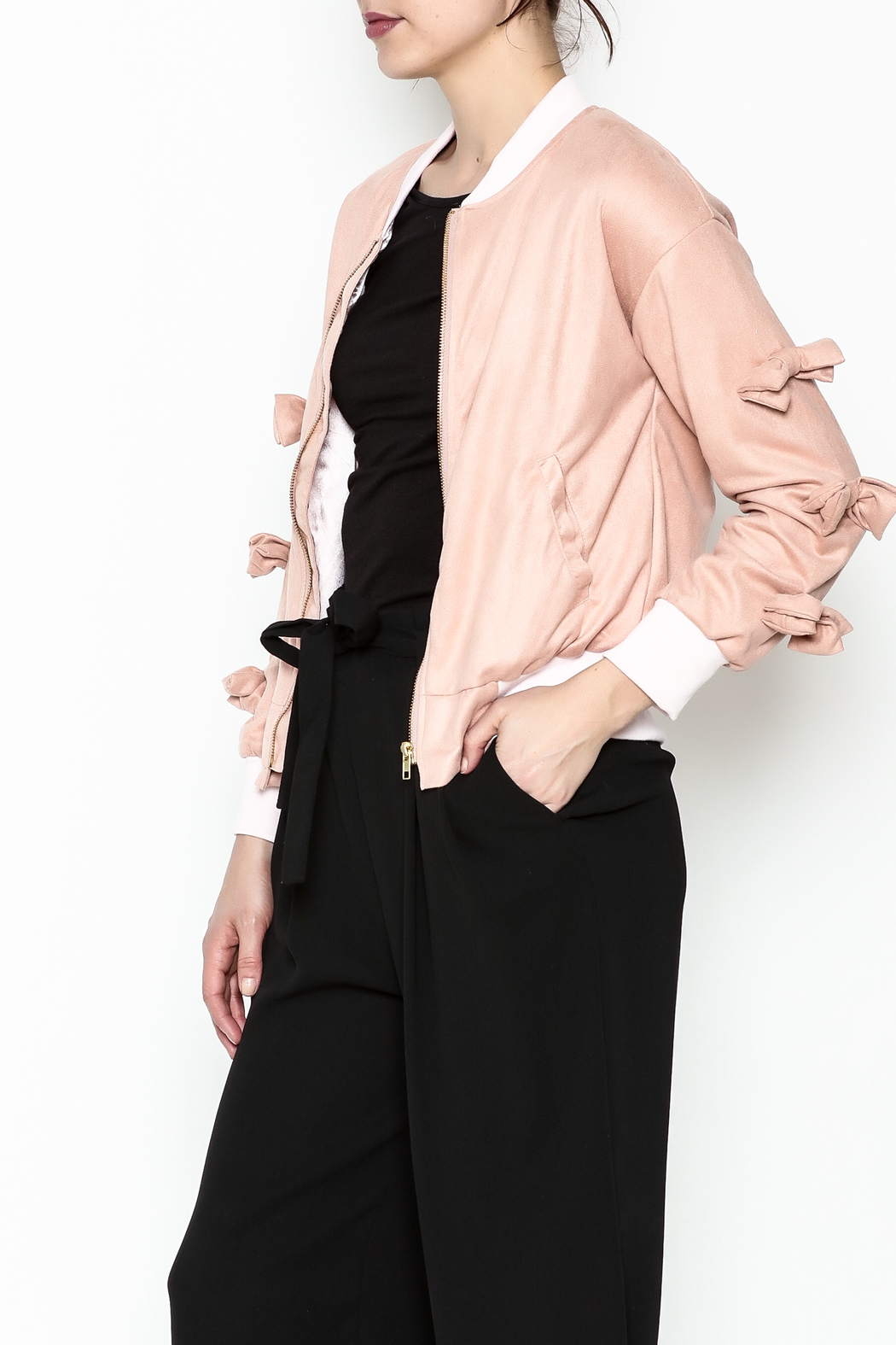 Fashion Pickle Pink Bow Jacket - Main Image