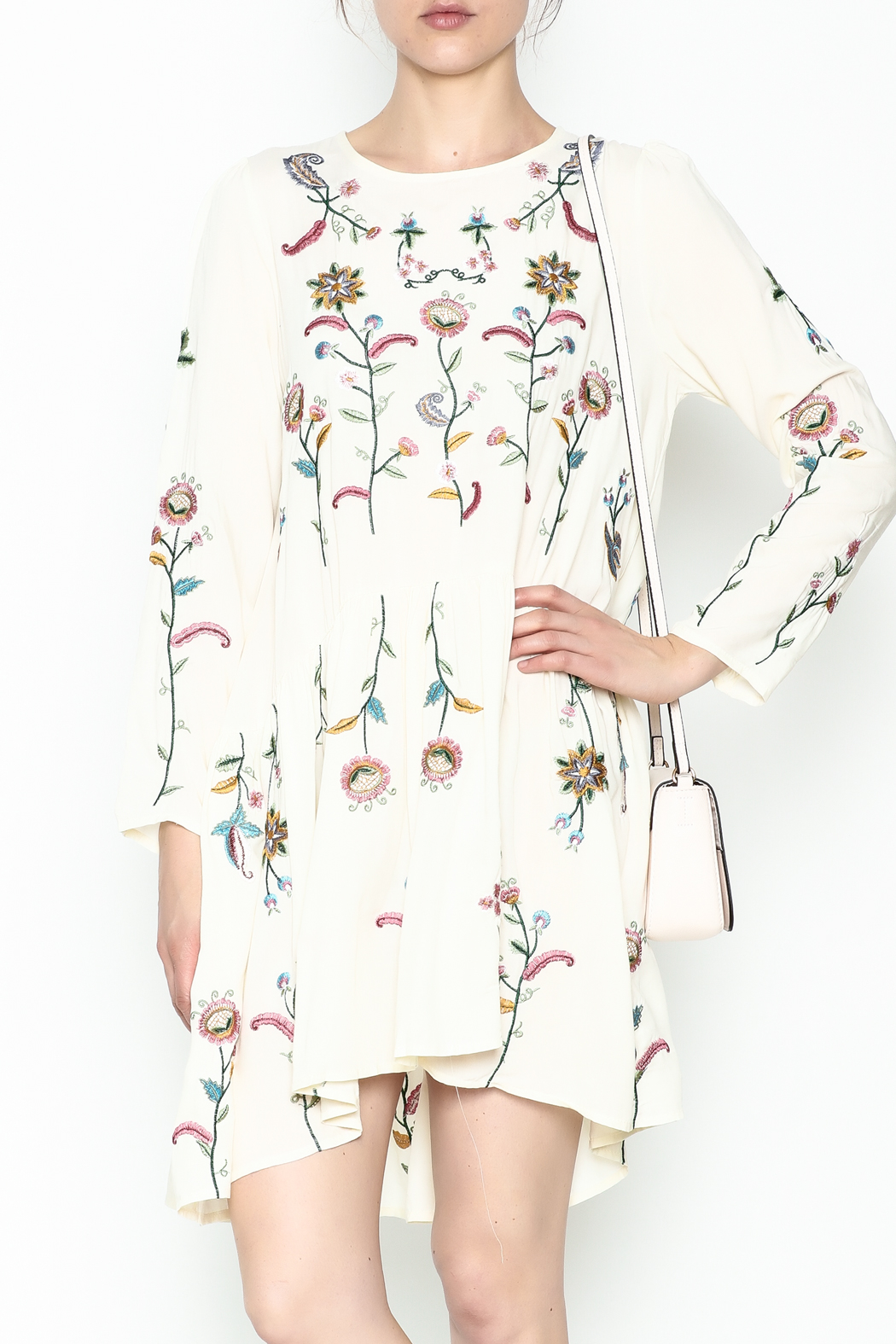 Fashion Pickle Raga Embroidered Dress - Main Image