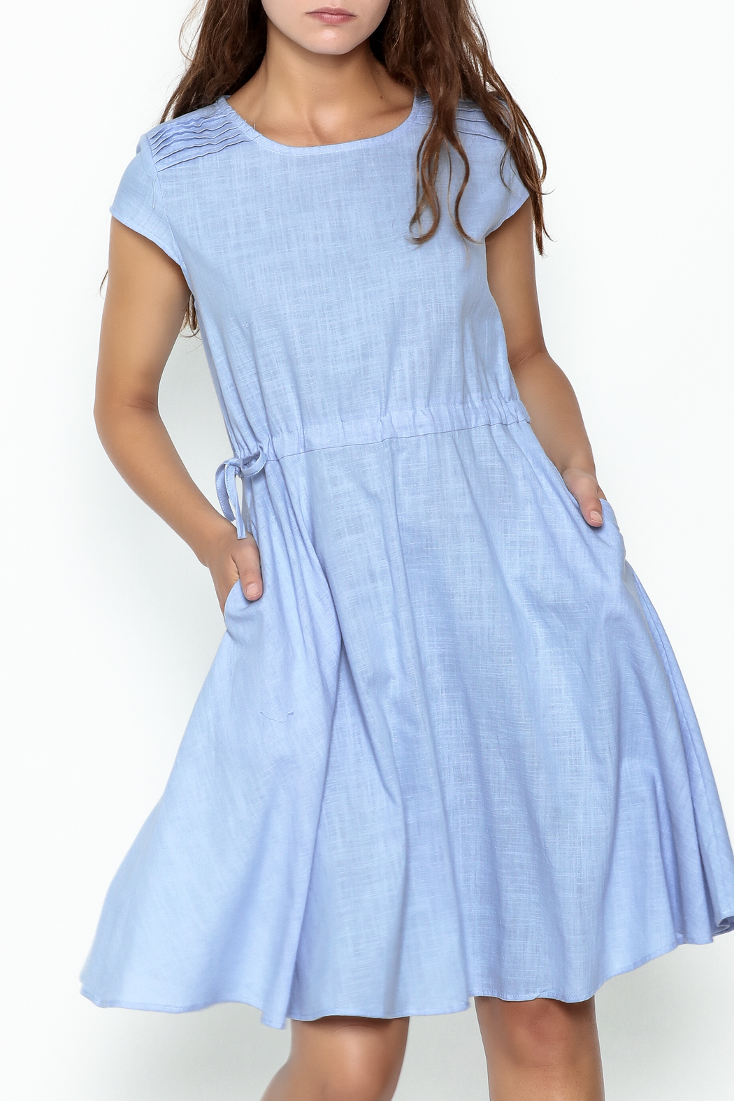 Fashion Pickle Sky Blue Dress - Front Cropped Image