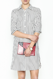 Fashion Pickle Striped Shirt Dress - Front cropped