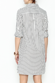 Fashion Pickle Striped Shirt Dress - Back cropped