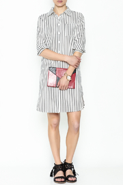 Fashion Pickle Striped Shirt Dress - Side cropped
